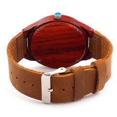 Rare Rosewood Watch with Leather Band