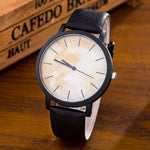 Aurora Marble Deluxe Watch with Leather Strap