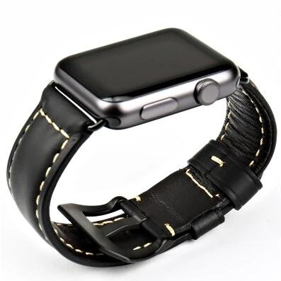 Premium Black Leather Band