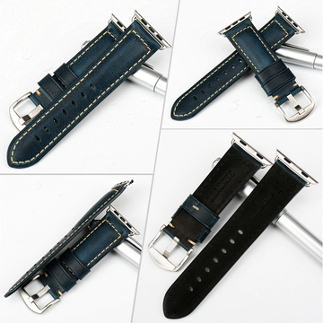 Blue Oil Wax Leather Band