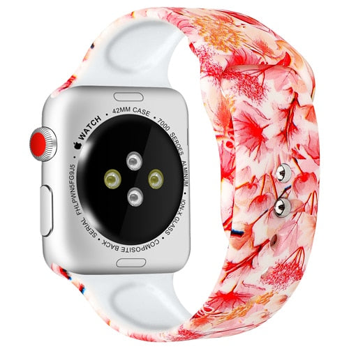 Printed Sport Band Pink Flowers