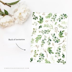 Farmhouse Greenery Shower Invitation