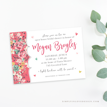 Fun Pink Rose Shower Invitation