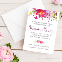 Pink and Lavender Shower Invitation