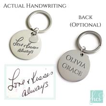 Handwriting Circle Keychain