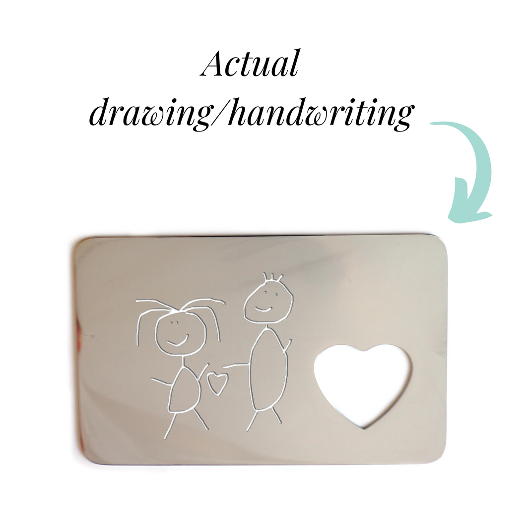 Handwriting Wallet Insert
