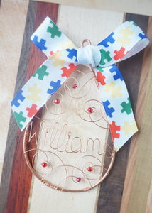 Autism Awareness Ornament