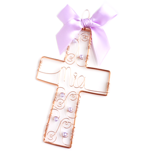 "5"" Filigree Cross Ornament"