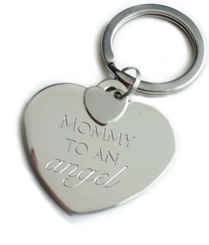 Mommy to an Angel Keychain