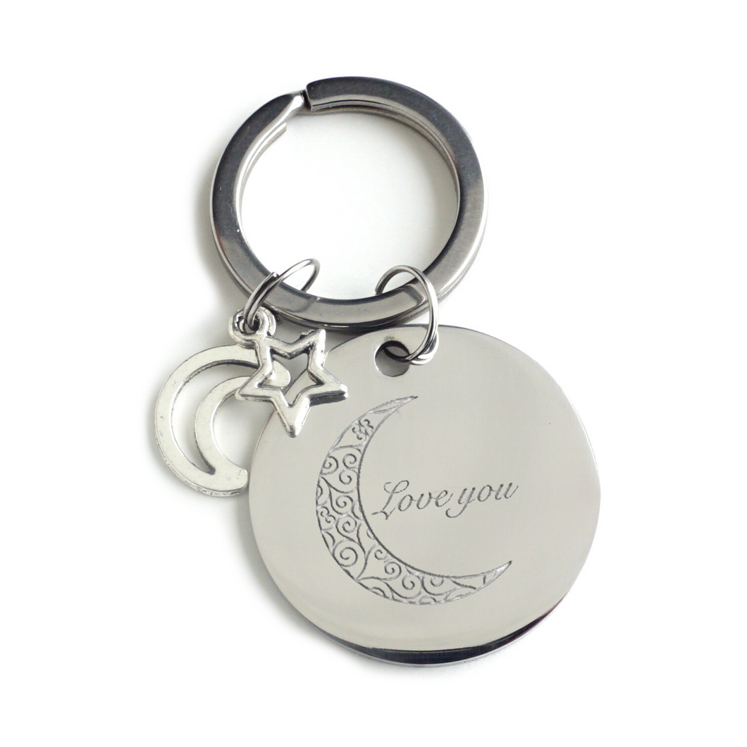 Love You to the Moon Keychain