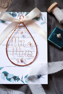 Simple Mr & Mrs Keepsake