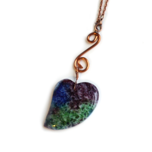 Rainbow Druzy Heart Car Charm