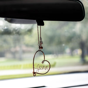 Key to my Heart Car Charm