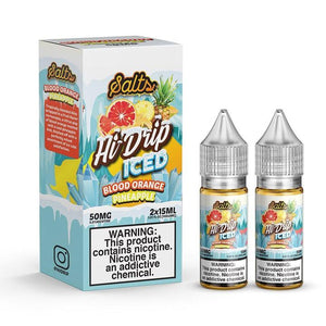Hi-Drip Salt Blood Orange Pineapple Iced (2 x 15mL Bottles)