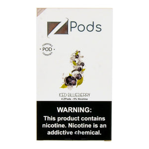 Zlab ZiiP Pre Filled JUUL Compatible Pods Iced Blueberry (4 Pk)
