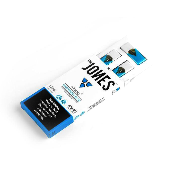 The Jones Pre-Filled JUUL Compatible Pods Raspberry Blue (5 Pk)
