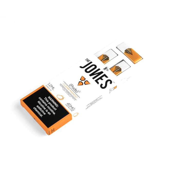 The Jones Pre-Filled JUUL Compatible Pods Clear Mango (5 Pk)