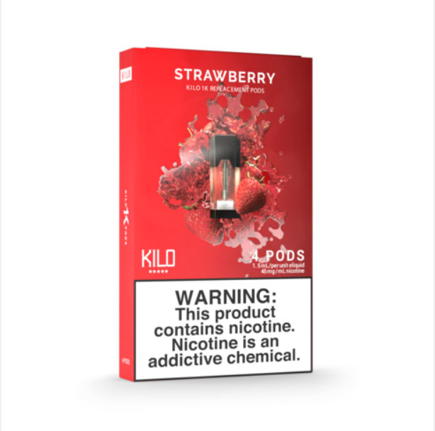 Kilo 1K Replacement Pods Strawberry (4 Pk)