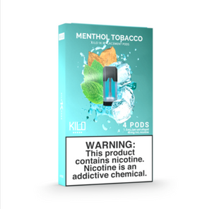 Kilo 1K Replacement Pods Menthol Tobacco (4 Pk)