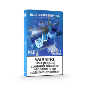 Kilo 1K Replacement Pods Blue Raspberry Ice (4 Pk)