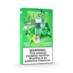 Kilo 1K Replacement Pods Green Apple Candy Ice (4 Pk)