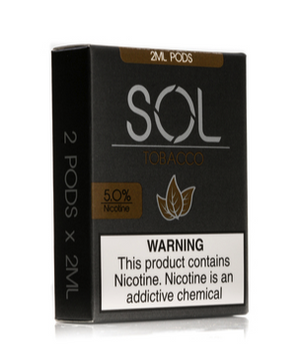 SOL 2mL Pod Cartridges Tobacco (2 Pk) - VapeNW