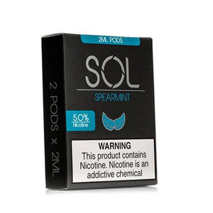 SOL 2mL Pod Cartridges Spearmint (2 Pk) - VapeNW