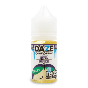 7Daze Reds Salt Apple Grape Iced - ovapor