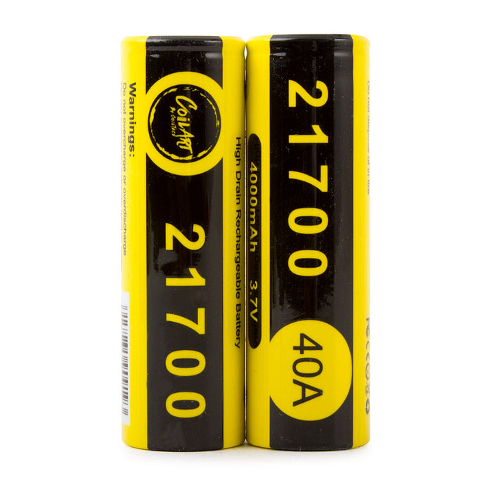 CoilArt 21700 4000mAh 40A Battery (2 Pk)