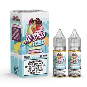 Hi-Drip Salt Honeydew Strawberry Iced (2 x 15mL Bottles)
