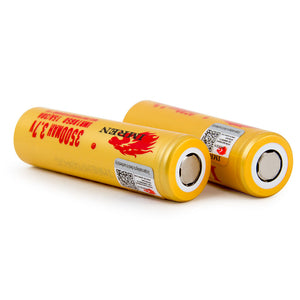 Imren IMR 18650 3.7V 3500mah 30A Flat Top Battery (2 Pack) - ovapor