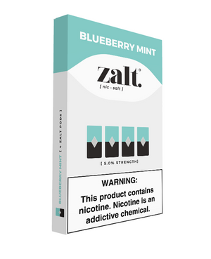 Zalt Pre Filled JUUL Compatible Pods Blueberry Mint (4 Pk) - VapeNW