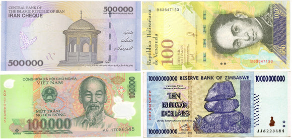 The world's Top 3 worthless currencies