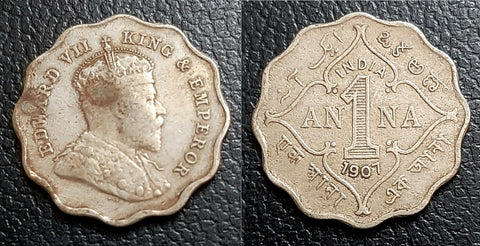 Edward VII, Coin, Rare, Anna, British, India