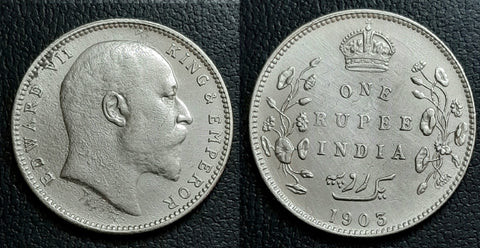 Edward VII, Silver, Rupee, Rare, Coin, British, India