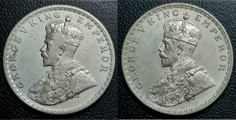 George V, Silver, Rupee, Pig, British, India