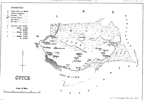 Kutch, Princely State, Map