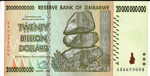 20 Billion Dollars, Zimbabwe