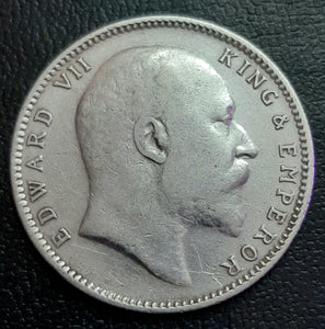 Edward VII, 1 Rupee, Mixed Years