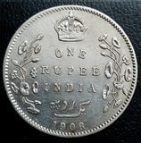 Edward VII 1 Rupee, Full Set 1903-1910, Bombay Mint
