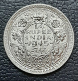1/4 rupee, Quarter Rupee, George VI, Silver, India