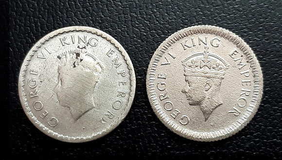 Big Head, 1/4 Rupee, George VI, 1940