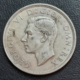 Half Crown, Silver, George VI, First type (1939-46)