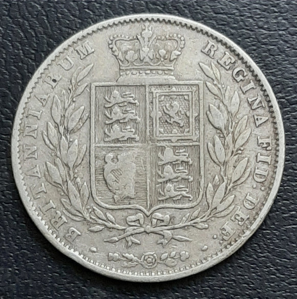 Half Crown, Silver, Victoria, 1st Portrait, Young head