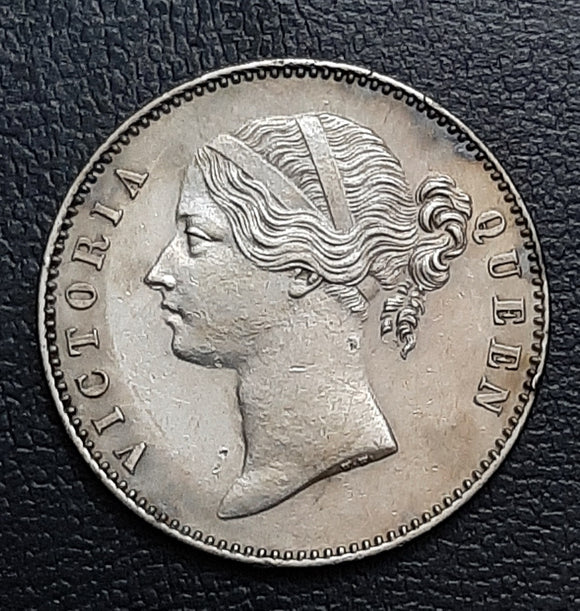 Victoria, Silver, Rupee, DL, Divided Legend, 1840