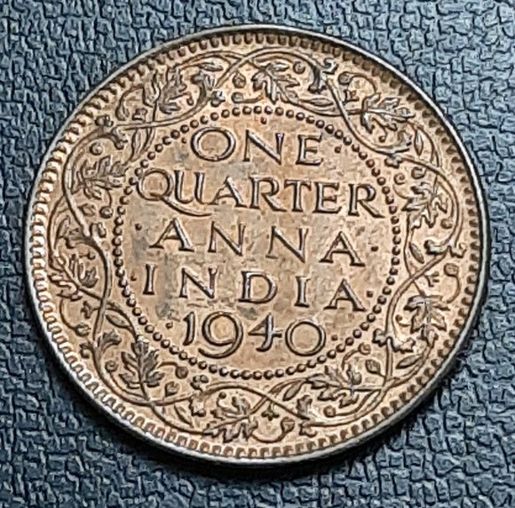 George VI, One Quarter Anna, Coin