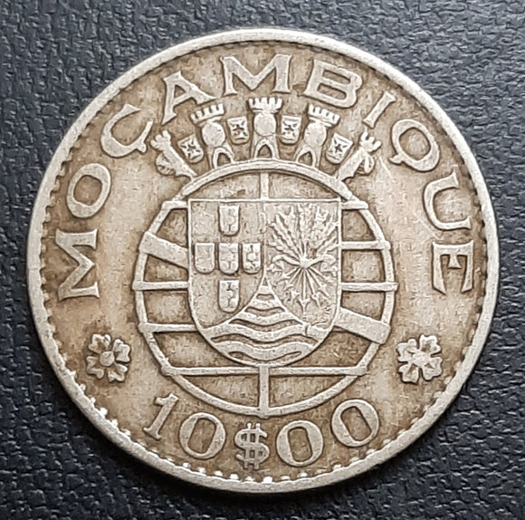 10 Escudo, Portugal, Mozambique, Coin
