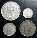 4 Coin Set - 16, 8, 4 & 2 Anna, Nizam Hyderabad