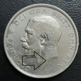 Half Crown, Silver, George V, Coin