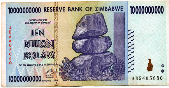Zimbabwe 10 billion dollars